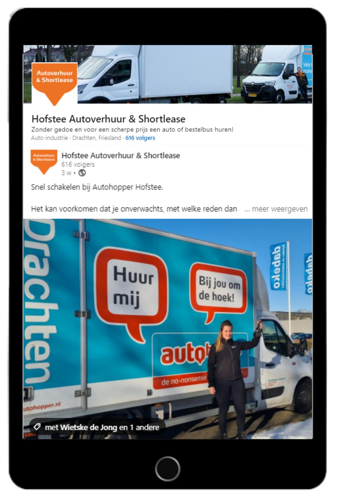 Content creatie Autohopper